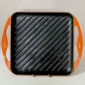 Orange Flame Square Griddle Pan